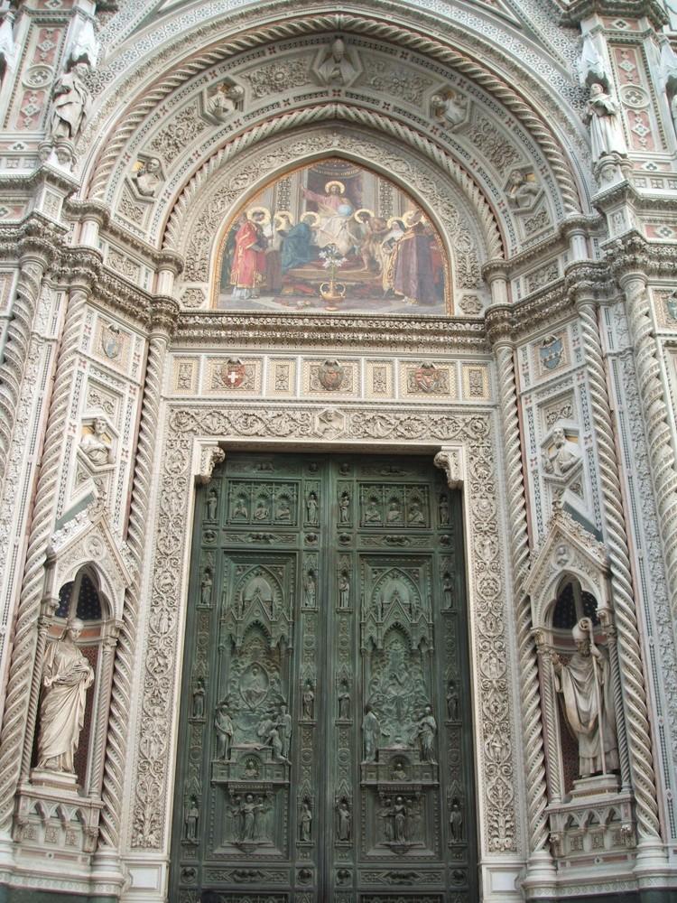 Das Portal des Domes von Florenz