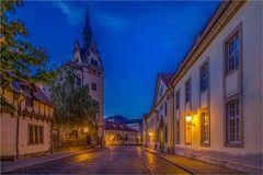 Das Rathaus in Bernburg ist in zwei Häusern aufgeteilt