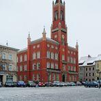 Das Rathaus von Kamenz am verg. Freitag