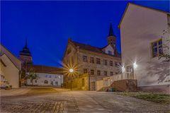 Das Rathaus von Könnern nachts