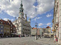 Das Rathaus von Posen (Poznan)