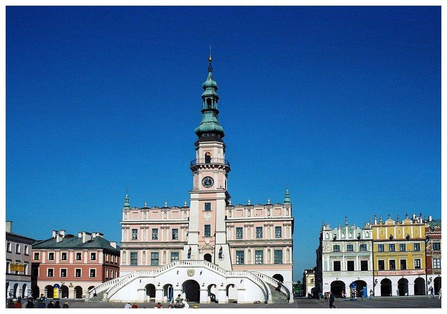 Das Rathaus von Zamosc/Ostpolen
