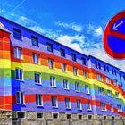 Das Regenbogenhaus in Selb (Oberfranken, Bayern)