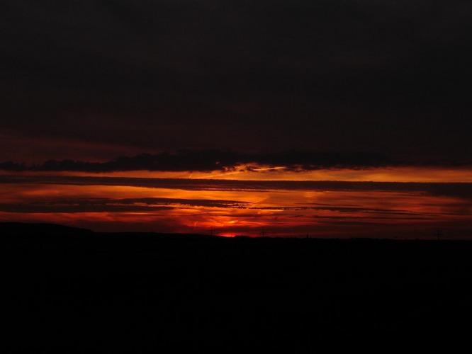 Das Rot in den Wolken