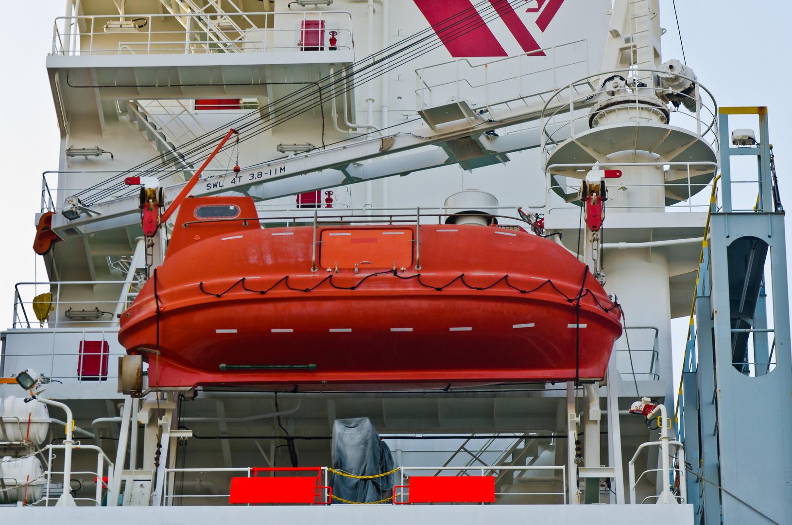 Das rote Rettungsboot