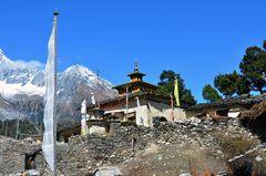 Das Sama-Kloster in Samagaon auf dem Manaslu-Trek