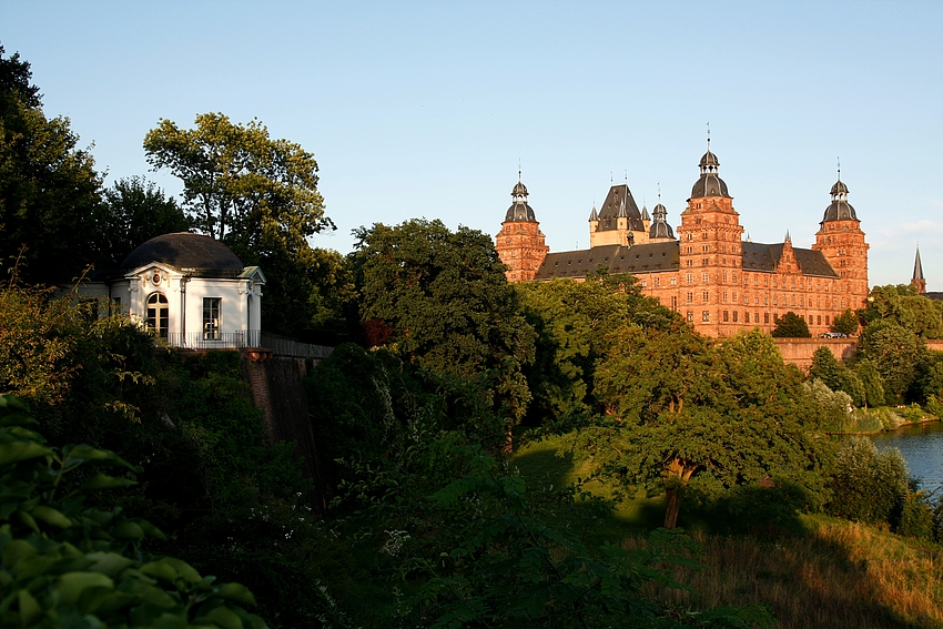 Das Schloss im Abendlicht