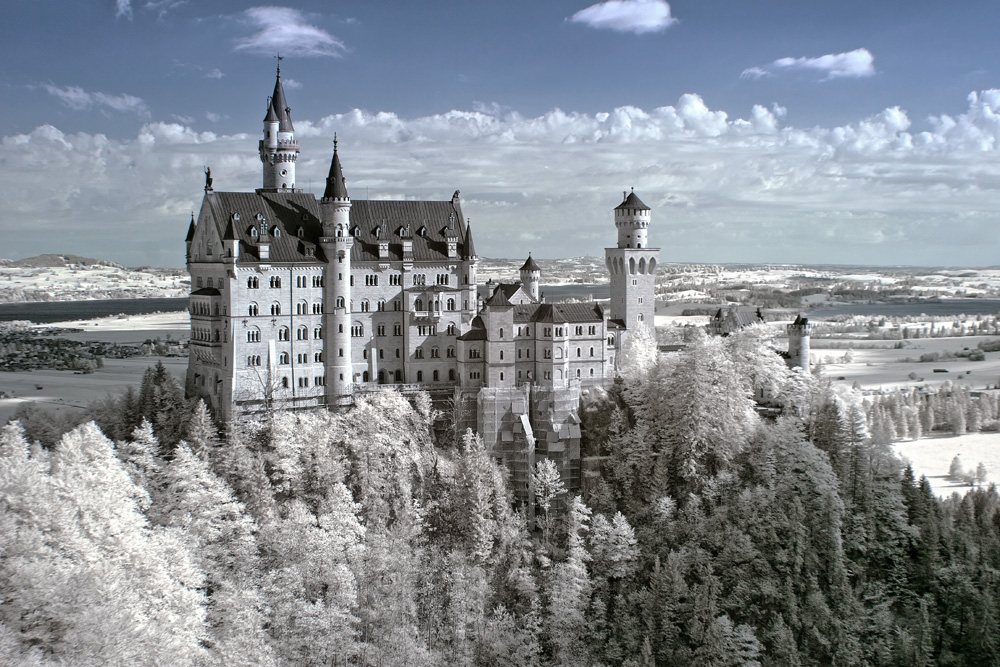 Das Schloss Neuschwanstein.