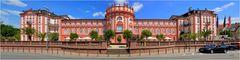 Das Schloss von Wiesbaden Biebrich als Panorama