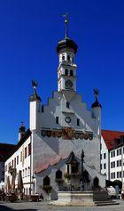 das schöne alte Rathaus von Kempten..Allgäu