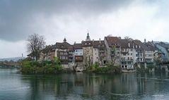 Das Schweizerische Laufenburg im April