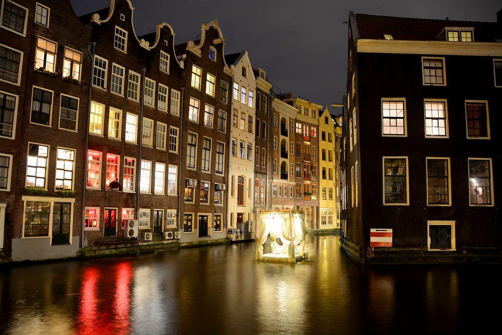 Das schwimmende Bett in Amsterdam