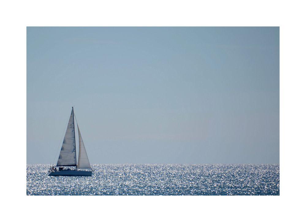 das Segelboot....