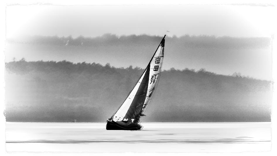 Das Segelboot in einer inversen Variante