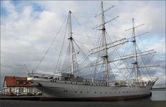 """Das Segelschulschiff """"Gorch Fock""""."""