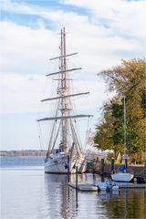 Das Segelschulschiff Greif in Greifswald
