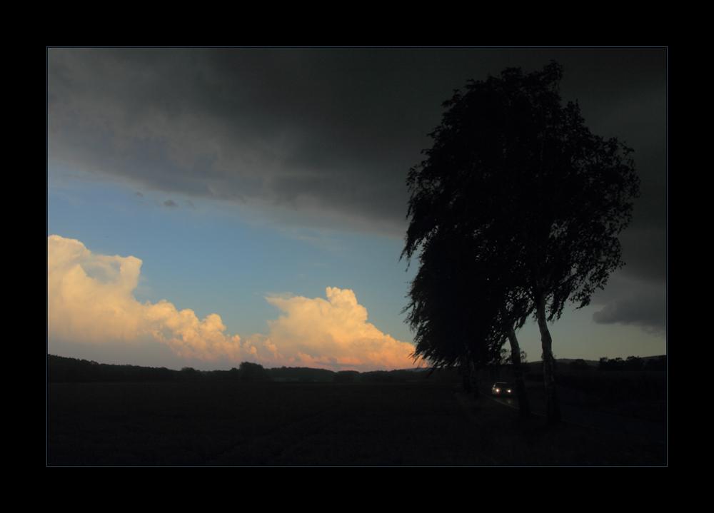 ...das Sommergewitter kommt mit warmem Sturmwind... !