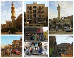 Das Stadtbild von Luxor ist vielseitig.
