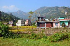 Das Städtchen Besisahar ist der Endpunkt des Manaslu-Treks