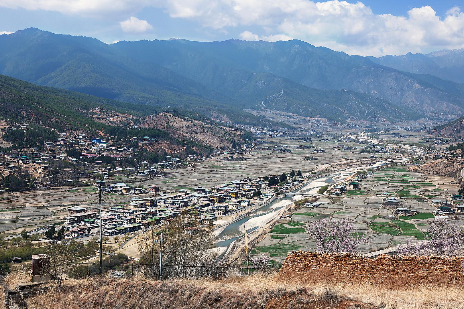 Das Tal von Paro ...