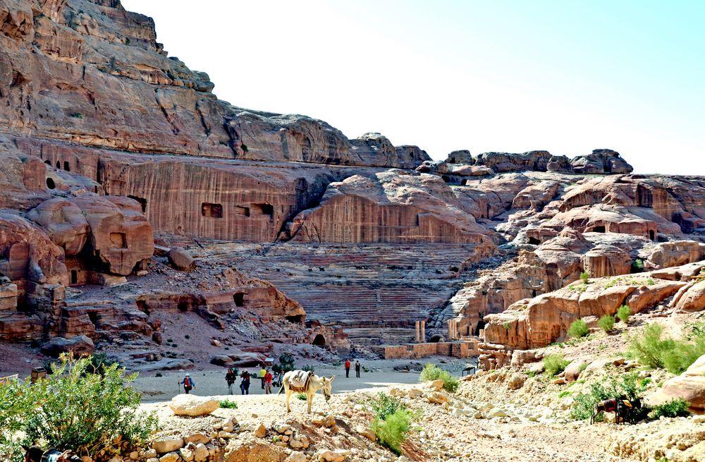 Das Theater in Petra
