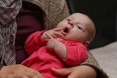 das Töchterchen einer guten Freundin - zwei Monate alt