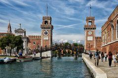 Das Tor Ingresso all'Acqua des Arsenals - Venezia -