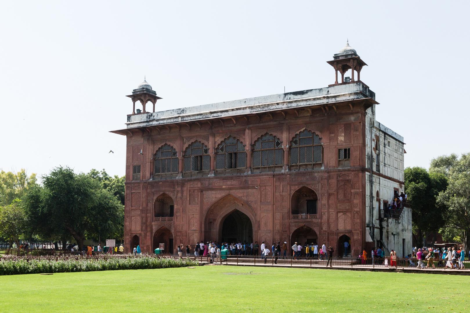Das Trommelhaus im Roten Fort in Delhi