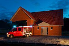 das TSF am neuen Gerätehaus in Rieste