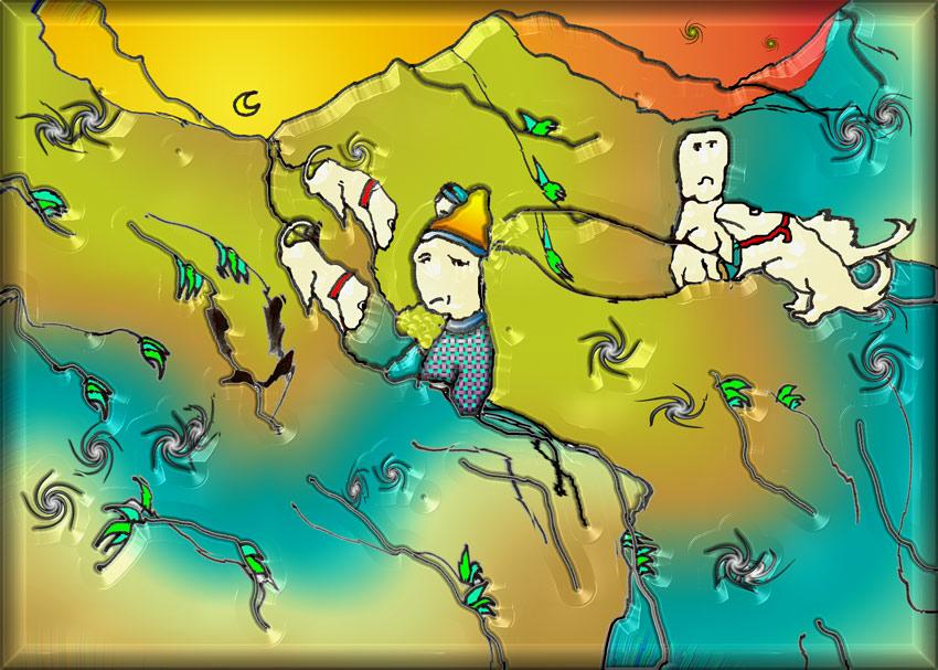 Das Tuscheklecksorakel für die Geburtstagskinder des zweiundzwanzigsten Februar 2007: