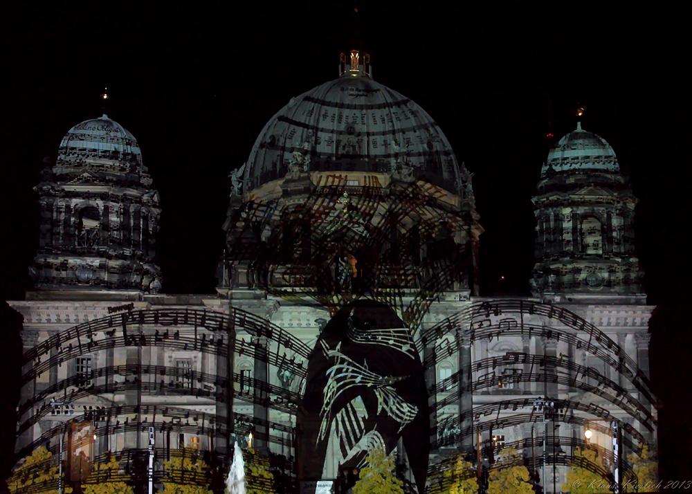Das war das Festival of Lights ,hier der Berliner Dom