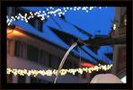das weihnachtliche Wasser von Willisau in der blauen Stunde