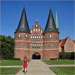 Das weltberühmte Holstentor in Lübeck