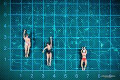 Das Wettschwimmen