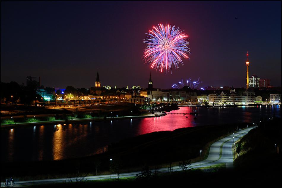 Das Winterleuchten-Feuerwerk ...