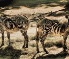 Das Zebrapferd steht umgekehrt