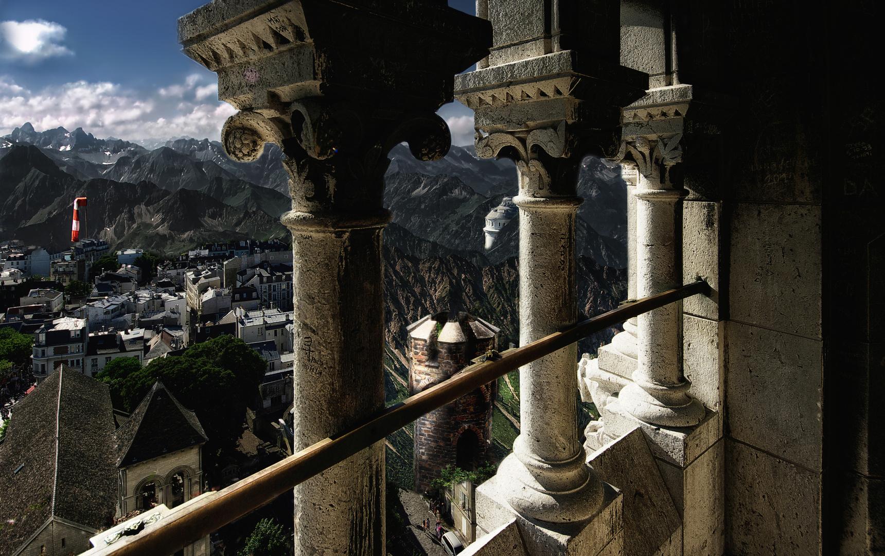 Daumengruppe der Allgäuer Alpen von der Kuppel vom Sacré-Coeur in Paris aus gesehen :)