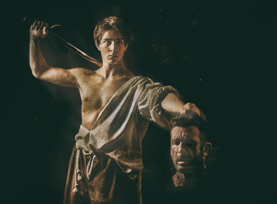 David mit dem Haupt von Goliath