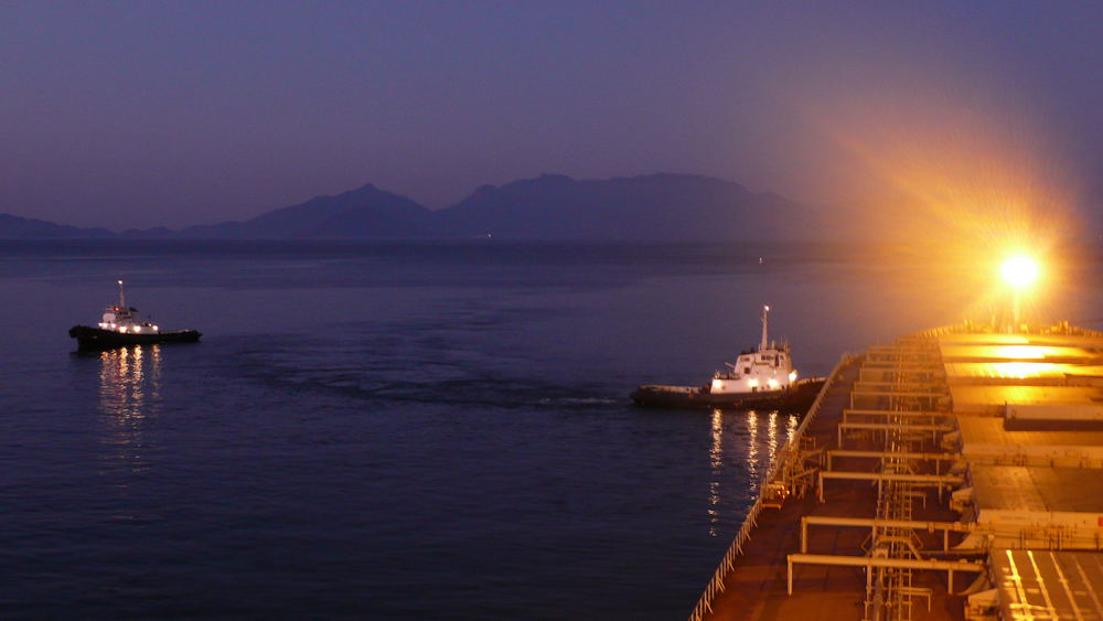 Dawn in a Iron Ore Terminal