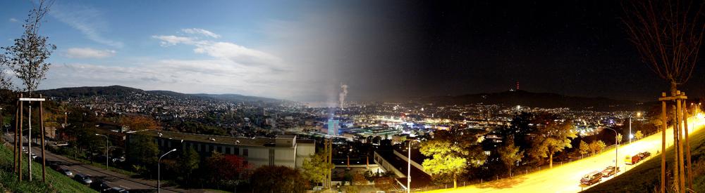 Day & Night over Zurich