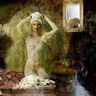 De dochter van Saskia met het ochtendtoilet ...