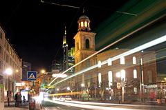 de noche en Frankfurt