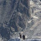 De regreso del Mont Blanc