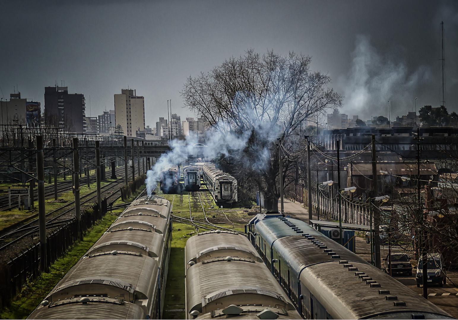 De Trenes y estaciones ferroviarias