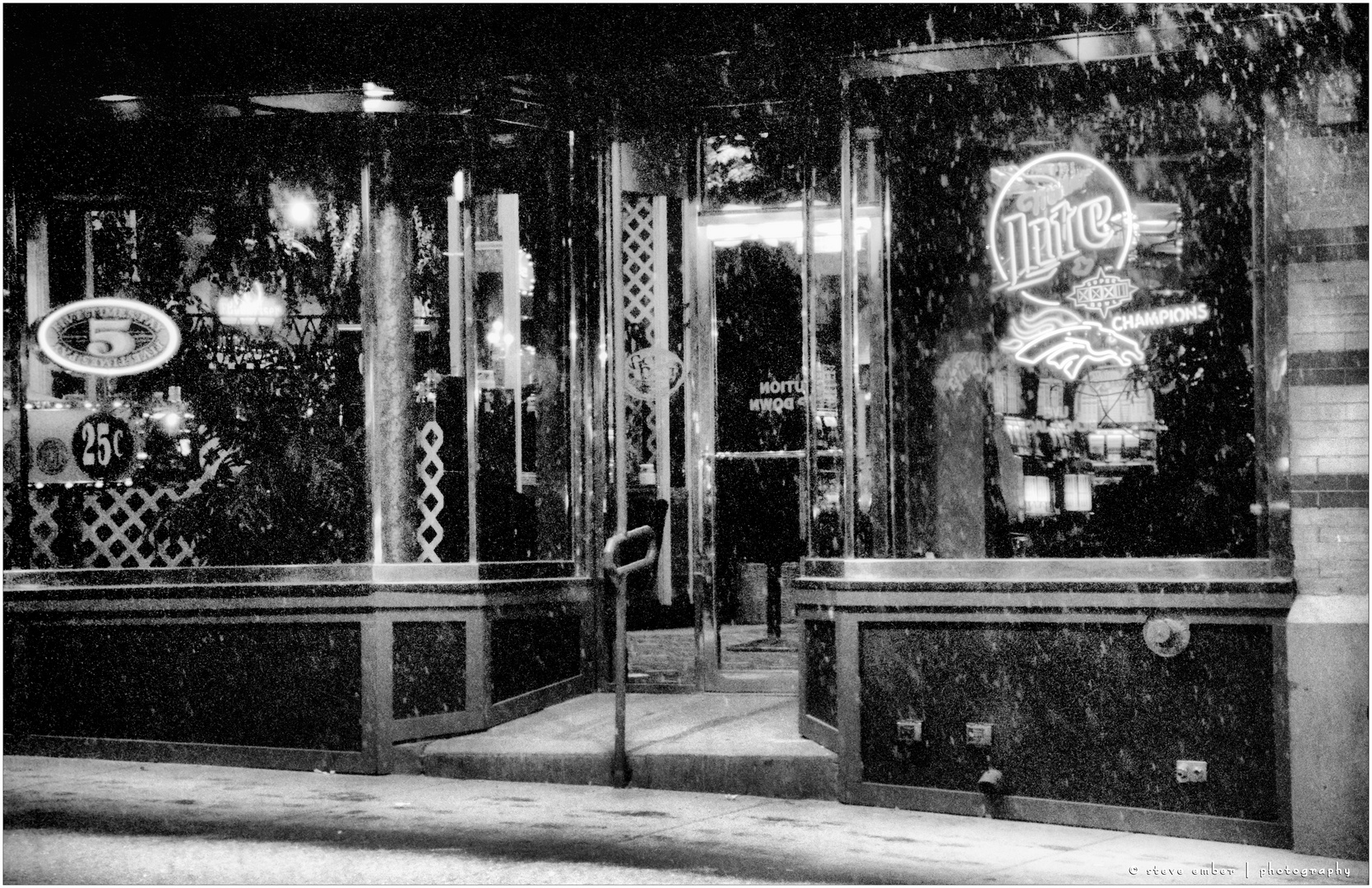 Deadwood Saloon on a Snowy South Dakota Night