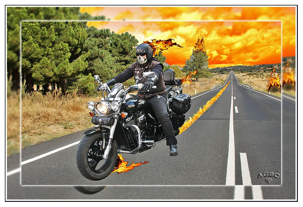 Death Rider from Hell brings burning fire I