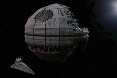 Deathstar mit Super Star Destroyer