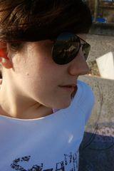 Deborah aime le soleil!!!
