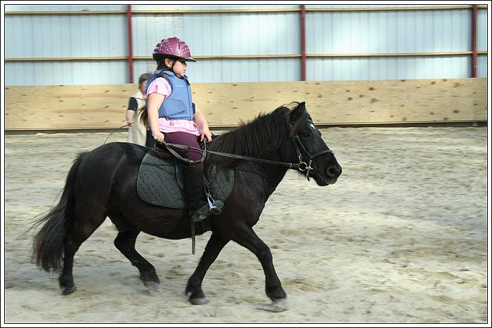 Débutante à poney