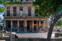 Decadent building in the streets of old Havana